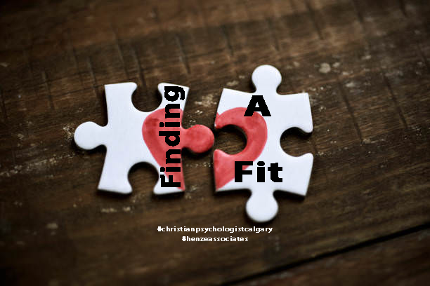 puzzle pieces of our Christian psychologist Calgary practice which form a heart